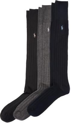 Ralph Lauren Mercerized Slack Sock 3-Pack