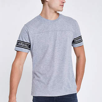 River Island Franklin and Marshall grey crew neck T-shirt