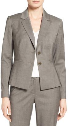 Classiques Entier Two-Button Melange Suit Jacket $298 thestylecure.com