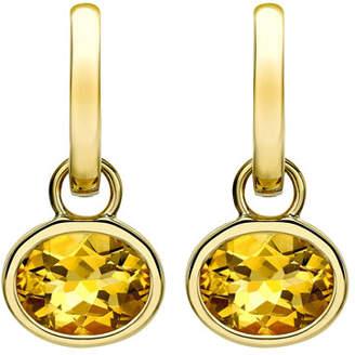 Kiki McDonough 18k Gold Eternal Citrine Drop Earrings