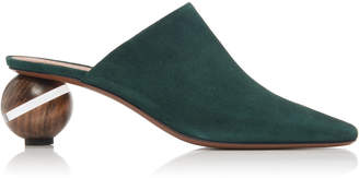 Neous Calanthe Round Heel Suede Mules