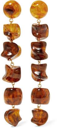Cult Gaia Leo Gold-tone Resin Earrings - Tortoiseshell