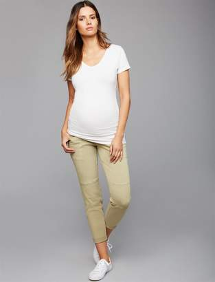 A Pea in the Pod Secret Fit Belly Military Cargo Maternity Pants