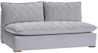 Maddox Armless Sofa - Light Gray Velvet - Community