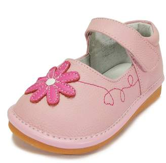 Squeaky Shoes HLT HLT Toddler/Little Kid Girl Pink Flower Necklace Pink Squeaky Shoe [US 9 / EU 25]