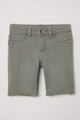 H&M Long Denim Shorts - Green