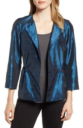 Anne Klein Ikat Dot Raglan Sleeve Jacket
