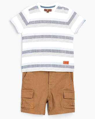 7 For All Mankind Kids Boys 12M-24M Crew Neck Tee Cargo In Deep Well