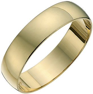 9ct Yellow Gold 5mm Heavy D Shape Ring