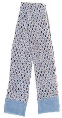 Barneys New York Barney's New York Cheetah Print Linen Blend Scarf w/ Tags