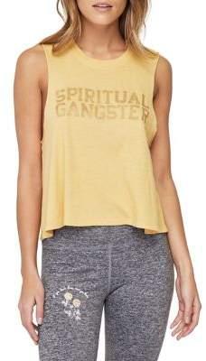 Spiritual Gangster Cropped Varsity Graphic Tank