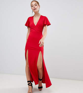 Miss Selfridge Petite V Neck Maxi Dress