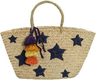 White Stuff Star Straw Tote Bag