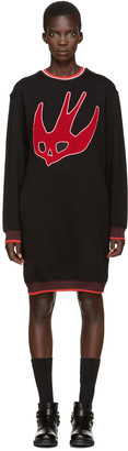 McQ Alexander Mcqueen Black Varsity Pullover $370 thestylecure.com