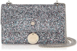 Jimmy Choo FINLEY Bubblegum Mix Coarse Glitter Fabric Cross Body Mini Bag