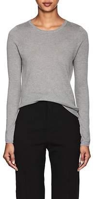 Barneys New York Women's Silk-Cashmere Crewneck Sweater - Gray