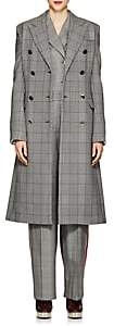 Calvin Klein Women's Glen Plaid Virgin Wool Peacoat-Brown