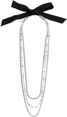 Lanvin pearl-embellished chain necklace