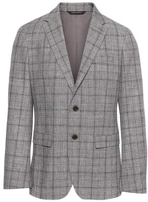 Banana Republic BR x Kevin Love | Slim Plaid Cotton-Wool Suit Jacket