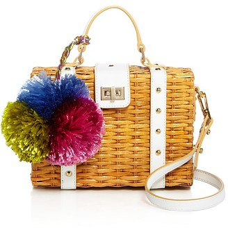 MILLY Small Wicker Satchel $345 thestylecure.com
