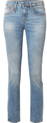 R 13 Alison Low-rise Skinny Jeans - Mid denim