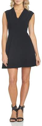 1 STATE 1.State V Neck Fit & Flare Dress
