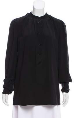 Prada Long Sleeve Chiffon Blouse