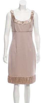 Blumarine Virgin Wool Sleeveless Dress