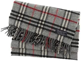 Burberry Vintage Grey Wool Scarves