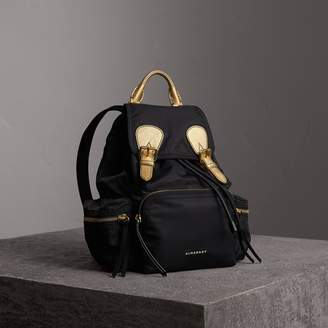 9d3282b0bcf0 Burberry The Medium Rucksack in Two-tone Nylon and Leather
