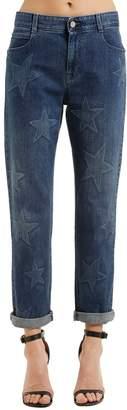 Stella McCartney Boyfriend Bleached Stars Denim Jeans