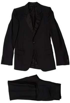 Alexander McQueen Satin-Trimmed Virgin Wool Tuxedo