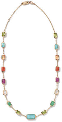 "Ippolita 18k Gold Rock Candy Multi-Stone Necklace in Summer Rainbow, 18""L"