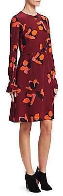 Akris Punto Women's Anemome-Print Silk A-Line Dress