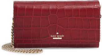 Kate Spade Murray Street Luxe Franny Leather Wallet On A Chain