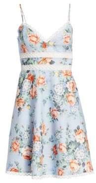 Zimmermann Bowie Floral Lace Eyelet A-Line Sun Dress
