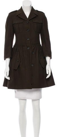 Miu Miu Miu Miu Wool Military Coat