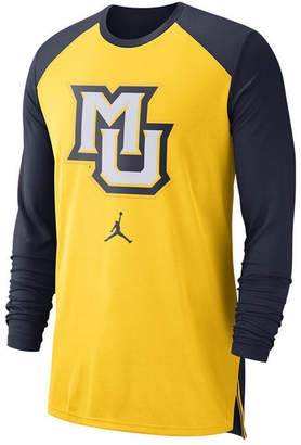 Nike Men Marquette Golden Eagles Breathe Shooter Long Sleeve T-Shirt