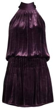 Ramy Brook Paige Velvet Mini Dress