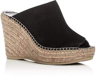 Andre Assous Cici Espadrille Wedge Slide Sandals $169 thestylecure.com