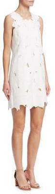 Halston Embroidered Shift Dress