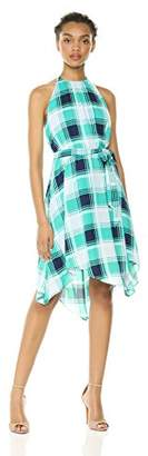 Wild Meadow Women's Plaid Print Halter Dress XS