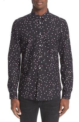 Men's Ps Paul Smith Dot Print Sport Shirt $175 thestylecure.com