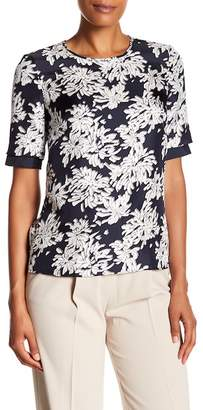 BOSS Inida Print Silk Short Sleeve Blouse (Regular & Petite)