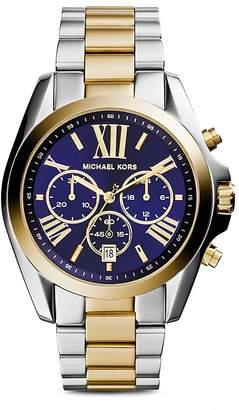 Michael Kors Bradshaw Two-Tone Watch, 43mm
