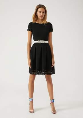 Emporio Armani Bubble Dress In Ribbed Fabric