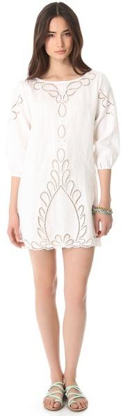 Vix Swimwear Linen Cover Up Dress