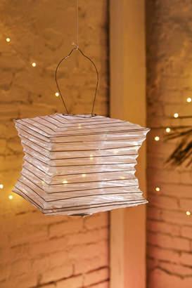 "SojiTM Silk Effects 12"" Square Solar Lantern"