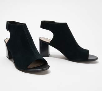 Clarks Collection Suede Heeled Sandals - Deva Bell