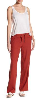 Susina Solid Linen Blend Drawstring Pants (Regular & Petite)